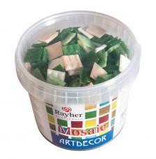 Teselas resina tonos verdes 2x2cm 325 pzas