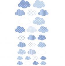 Set figuras adhesivas Nubes 3D.