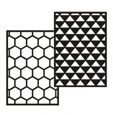 kit 2 plantillas stencil adhesivas A5. modelo 2