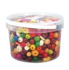 Kit bolas madera colores 16-25 mm. 1200 gr.