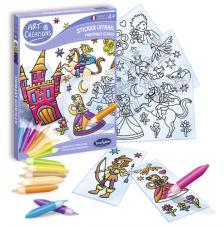 Ac stickers vitral principes y princesas