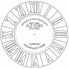 RELOJ Old Town London. 2 medidas disponibles Ø 38 y Ø 70 cm