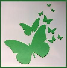 Stencil Mariposas 13 15x15 cm