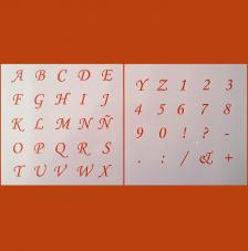 Kit 2 Stencils Letras y Números 20x20 cm