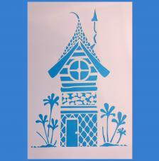 Stencil Casa Duende 20x30cm