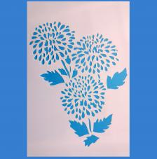 Stencil Flores 20x30cm