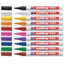 Rotulador Edding 751 tinta opaca. Gama 14 colores