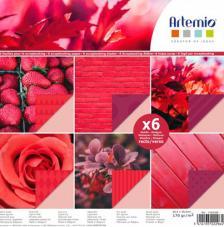 Bloc 6 hojas 30,5x30,5 cm. Rojos
