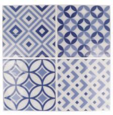 Pegatina Mosaico 26,5x31 cm. Tonos azules A