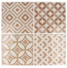 Pegatina Mosaico 26,5x31 cm. Tonos beige A