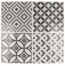 Pegatina Mosaico 26,5x31 cm. Tonos gris A