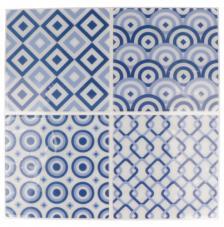 Pegatina Mosaico 26,5x31 cm. Tonos azules B
