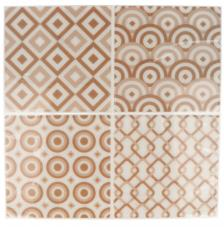 Pegatina Mosaico 26,5x31 cm. Tonos Beige B