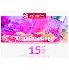 Bloc papel para Acrílico Art Creation 15 hojas 290 g/m2. A4