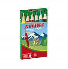 Estuche 6 lápices de colores Alpino. Mango Corto