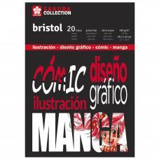 Bloc Bristol para Comic y Manga. Sakura 20 hojas 250 g/m2. A3