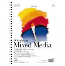 Bloc Técnicas mixtas Strathmore serie 200 40 hojas 160 g/m2. 22,9x30,5 cm
