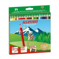 Estuche 24 lápices de colores Alpino