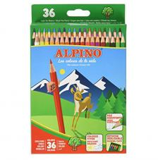 Estuche 36 lápices de colores Alpino
