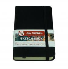 Cuaderno boceto tapa dura cosida Negro Art Creation 80 hojas 160 g/m2. 9X14 cm