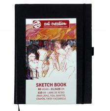 Cuaderno boceto tapa dura Art Creation 80 hojas 110 g/m2. 21,5x28 cm