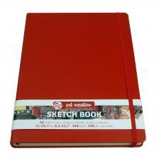 Cuaderno boceto tapa dura cosida Rojo Art Creation 80 hojas 160 g/m2. 21x29,7 cm
