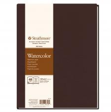 Bloc Acuarela tapa dura Strathmore serie 400 24 hojas 300 g/m2. 21,6x27,9 cm