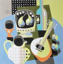 Bodegon Naif Guitarra. 2 medidas