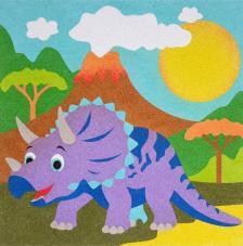 Dinosauiro Triceratops. 3 medidas