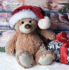 20 Servilletas Navidad. Osito navidad