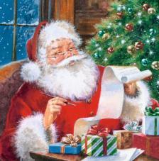 20 Servilletas Navidad. Santa Claus
