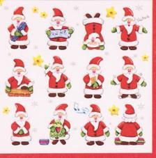 20 Servilletas Navidad. Santas Claus