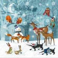 20 Servilletas Navidad. Bosque de invierno