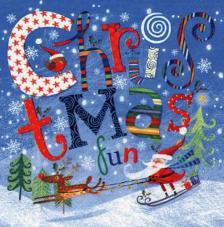 20 Servilletas Navidad. Santa Claus con reno