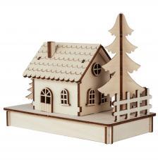 Cabaña de madera 17,5x9,4x14cm
