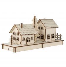 Cabaña de madera 31,7x9,4x14cm