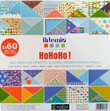 180 papeles 30,5 x 30,5 cm. Ho-Ho-Ho