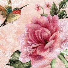20 servilletas. Rosa fondo Beige