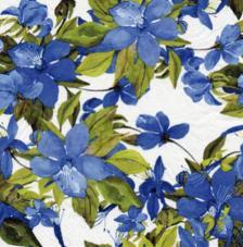 20 servilletas. Clematis Azul