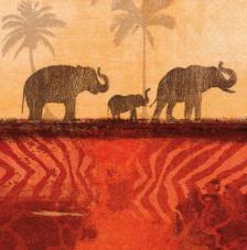 20 Servilletas. Elefantes