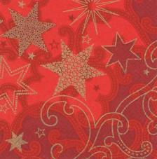 20 servilletas. Fondo estrella rojo brillante
