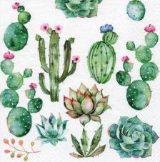 20 servilletas. Cactus