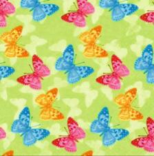 20 Servilletas. Mariposas fondo verde