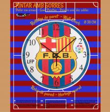 Set Pinta Reloj Pared con arenas. F.C.Barcelona