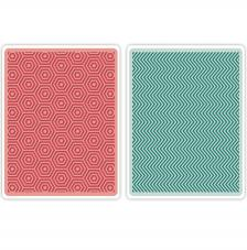 Textura embossing Sizzix: hexágono y zig-zag