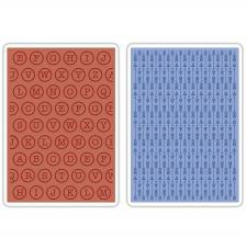 Textura embossing Sizzix: Letras y fletxas