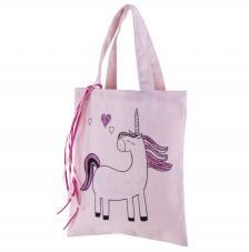 Bolsa Rosa Unicornio 20x25cm