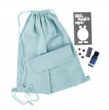 Kit bolsa y estuche azul monster