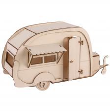 Caravana 3D montable madera 36x18x15cm
