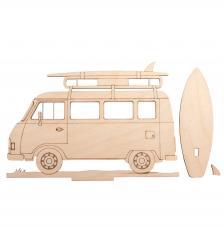 Silueta Caravana camping 20x11,5x0,4cm
